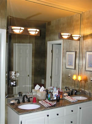 Framed Beveled Bathroom Mirrors custom glass and mirror installationsfurniture city glass