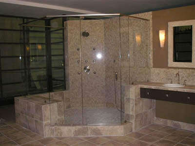 standard enclosure with header frameless shower enclosure with header
